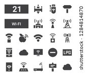 wi fi icon set. collection of... | Shutterstock .eps vector #1284814870