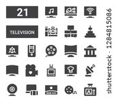 television icon set. collection ... | Shutterstock .eps vector #1284815086