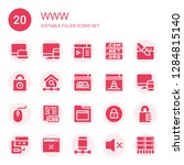 www icon set. collection of 20...   Shutterstock .eps vector #1284815140
