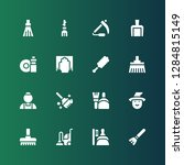 broom icon set. collection of... | Shutterstock .eps vector #1284815149