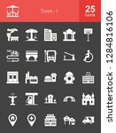 town glyph icons | Shutterstock .eps vector #1284816106