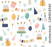 seamless pattern with holiday... | Shutterstock .eps vector #1284818560