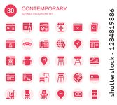 contemporary icon set....