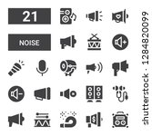 noise icon set. collection of... | Shutterstock .eps vector #1284820099