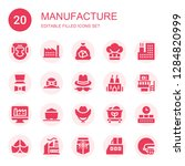 manufacture icon set.... | Shutterstock .eps vector #1284820999