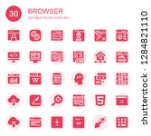 browser icon set. collection of ... | Shutterstock .eps vector #1284821110