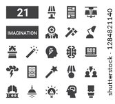 imagination icon set....   Shutterstock .eps vector #1284821140