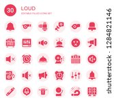 loud icon set. collection of 30 ... | Shutterstock .eps vector #1284821146