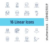 avatar icon set and boy with...