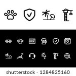 pack icon set and service with...