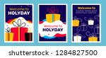 vector set of illustration with ... | Shutterstock .eps vector #1284827500