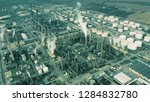 aerial shot of big oil refinery | Shutterstock . vector #1284832780