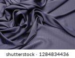 silk satin dark gray fabric | Shutterstock . vector #1284834436