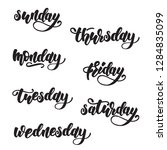 days of the week lettering... | Shutterstock .eps vector #1284835099