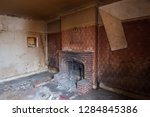 close up of brick fireplace and ... | Shutterstock . vector #1284845386