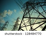 the transmission tower on blue...   Shutterstock . vector #128484770