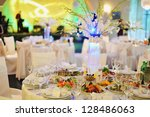 Wedding banquet in a restaurant ...