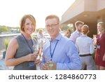 businessman and businesswoman...   Shutterstock . vector #1284860773