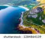 coast of vestvagoy island ... | Shutterstock . vector #1284864139