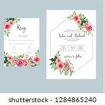 banner on flower background.... | Shutterstock .eps vector #1284865240