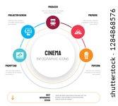 abstract infographics of cinema ... | Shutterstock .eps vector #1284868576