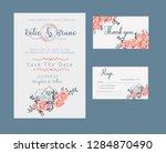 floral wedding invitation ... | Shutterstock .eps vector #1284870490