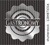 gastronomy silvery shiny badge | Shutterstock .eps vector #1284873316