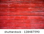 Painted Old Wooden Wall. Red...