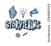 storytelling handwritten... | Shutterstock .eps vector #1284883543