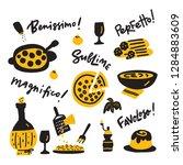 doodle illustration of italian... | Shutterstock .eps vector #1284883609