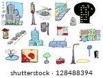 city color sketch   Shutterstock . vector #128488394