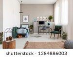 teenager's bedroom with working ... | Shutterstock . vector #1284886003