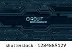 technology background with... | Shutterstock .eps vector #1284889129