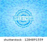 intertwine light blue emblem...   Shutterstock .eps vector #1284891559