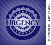 urgency with jean texture   Shutterstock .eps vector #1284891880