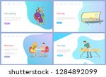 hair styling  manicure and... | Shutterstock .eps vector #1284892099
