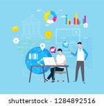 online support and internet...   Shutterstock .eps vector #1284892516