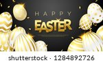 easter black background with... | Shutterstock .eps vector #1284892726