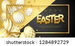 easter black and gold... | Shutterstock .eps vector #1284892729