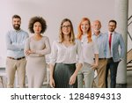 line of happy and positive... | Shutterstock . vector #1284894313