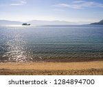 view of the sea from the ferry... | Shutterstock . vector #1284894700
