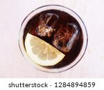 delicious cocktails with ice... | Shutterstock . vector #1284894859