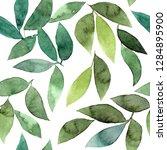 green leaves background.... | Shutterstock . vector #1284895900