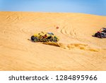 The Race Is On. Off Road Dune...