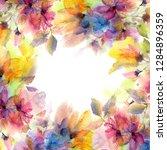 watercolor flowers. floral... | Shutterstock . vector #1284896359