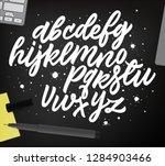 lettering alphabet. hand drawn... | Shutterstock .eps vector #1284903466