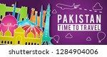 purple pakistan of japan famous ...   Shutterstock .eps vector #1284904006