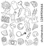 patch set on white background.... | Shutterstock .eps vector #1284904666