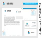 map  business letterhead ... | Shutterstock .eps vector #1284909733