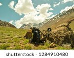 the mountain luggage | Shutterstock . vector #1284910480
